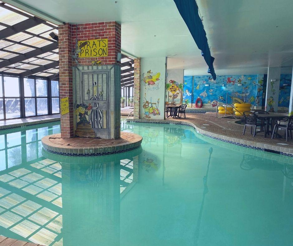 Indoor pool enclosed