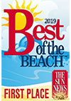 2019 Best of the Beach First Place Award